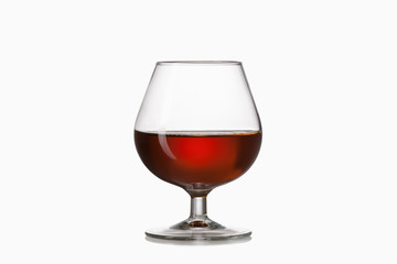 Glass. Glass of cognac isolated on white background