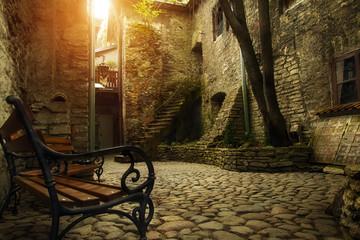 Courtyard of old Tallinn