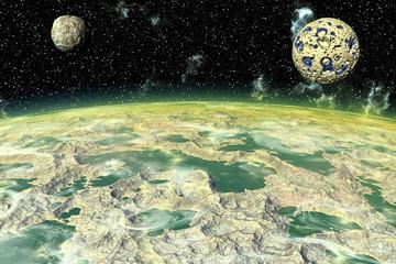 Alien Planet. Moon