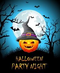 Happy halloween party night