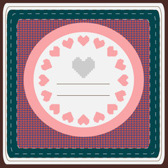 Hearts Valentine Day greeting card.