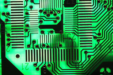 Microelectronics computer chip background