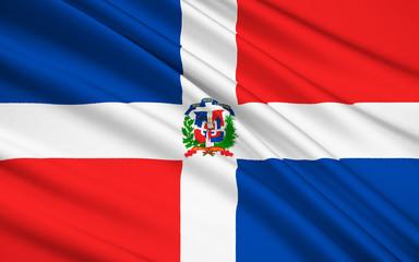Flag of Dominican Republic, Santo Domingo
