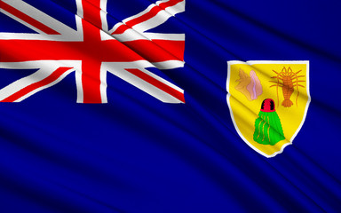Flag of Turks and Caicos Islands (UK) - Cockburn Town