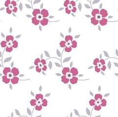 Seamless floral pattern. Marsala flowers, leaves, foliage