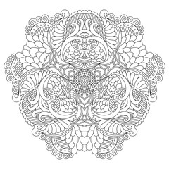 Black and white mandala.