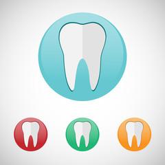 Teeth icon set.