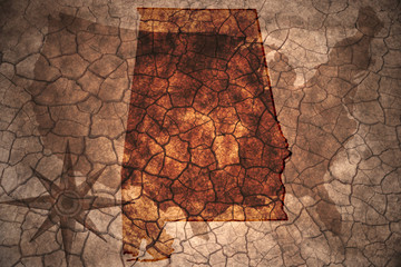 vintage Alabama state map