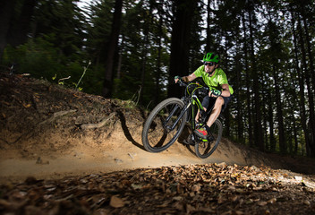 Rider in action at Mountain Bike