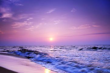 landscape sea sunrice golden sky