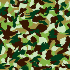 War universal nature camouflage seamless vector pattern. Can be used for wallpaper, pattern fills, web page background, surface textures. Vector illustration