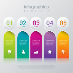 Vector company color label infographic template background