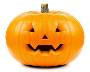 Halloween Kürbis mit weißem Hintergrund
