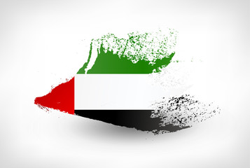 Brush painted flag of UAE