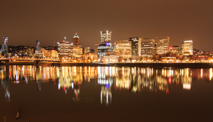 Fototapete - Landscape of Portland, Oregon, USA