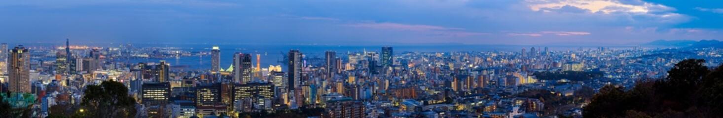 Panorama view Kobe japan