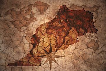 vintage morocco map