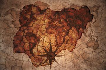 vintage nigeria map