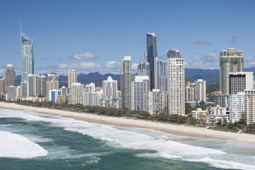 Highrises near beach in Surfers Paradise