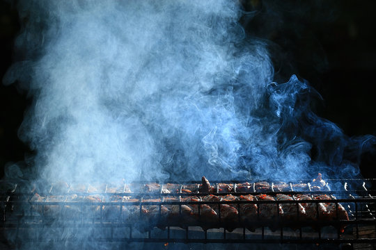 grilled meat smoke smoked barbecue