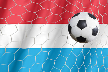 Luxembourg symbol soccer ball