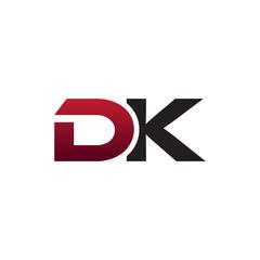 modern initial logo DK