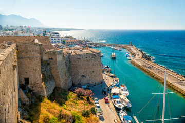 Deurstickers Cyprus Kyrenia Castle, view of Venetian tower. Cyprus