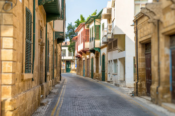 Asim efendi street, narrow historic street in central Nicosia