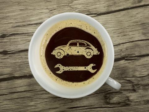 Kaffee in der Werkstatt