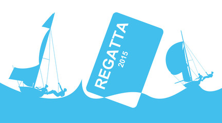 Poster with regatta theme.