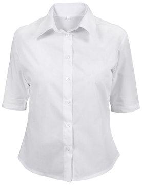 white female shirt isolated on white
