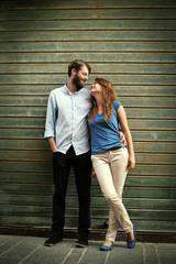 Happy couple's portrait