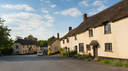 Broadhembury village East Devon England uk with thatched cottages in Blackdown Hills