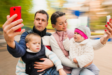 selfie cheerful Portrait Family