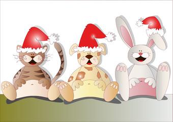 animaletti natalizi
