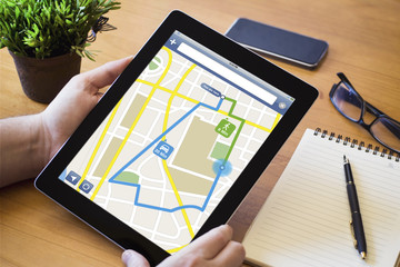 desktop tablet route planning