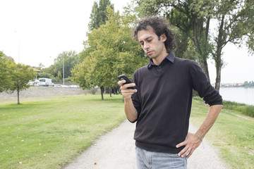 man at smartphone