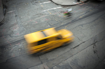 Yellow Cab New York City streets