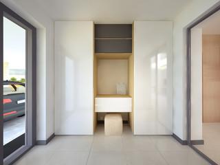 3d rendering interior hallway