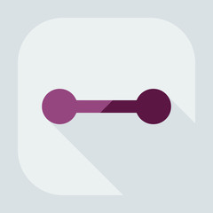 Flat modern design with shadow icon dumbbell