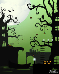 Halloween In Green