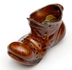 Ботинок лепрекона,  наполненный монетами