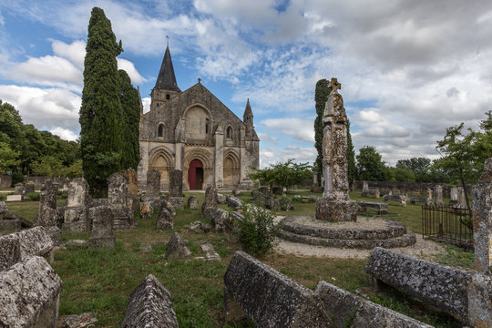 The Saint Pierre church in Aulnay on the Via Turonensis to Santiago de Compostela