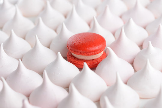 Outstanding red macaroon