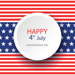 Illustration of American Independence Day of 4th July with circle on flag color seamless background. Perfect for banner, poster and flyer