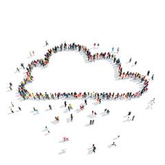 people  shape  clouds