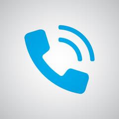 Flat blue Phone icon