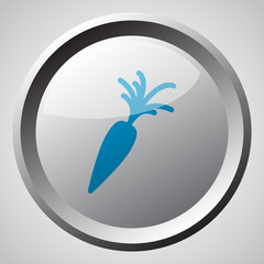 Web button with blue Carrot icon