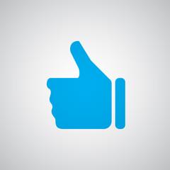Flat blue Thumb Up icon