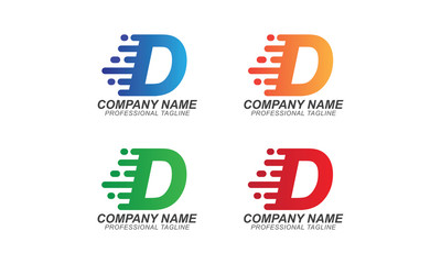 D Fast Font Illustration - Logo Business Concept